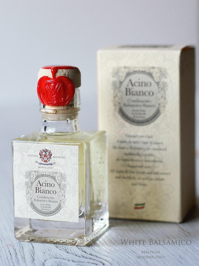 ホワイトバルサミコ酢「アチノ・ビアンコ」Malpighi社 (Italian White Balsamico ACINO Bianco)